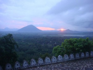 Sunset at Dambulla Cave Temple